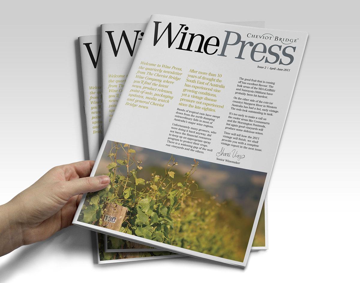Wine industry magazine design